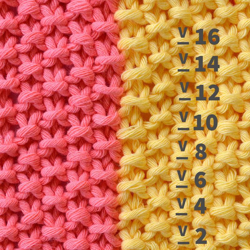 Punto de arroz cuesti n de l gica pearl knitter - Como empezar a hacer punto paso a paso ...