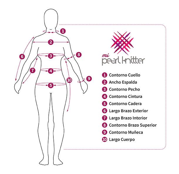 Cómo tomar medidas para tejer | Pearl Knitter