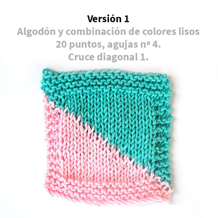 tejer-una-diagonal-en-punto-liso