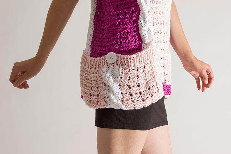 C mo hacer ojales en punto a dos agujas pearl knitter - Como hacer punto de ochos a dos agujas ...
