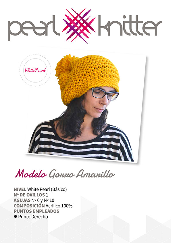 Patrón Yellow Beanie | Pearl Knitter