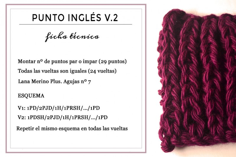 Punto Inglés? Yes! Of course.   Pearl Knitter