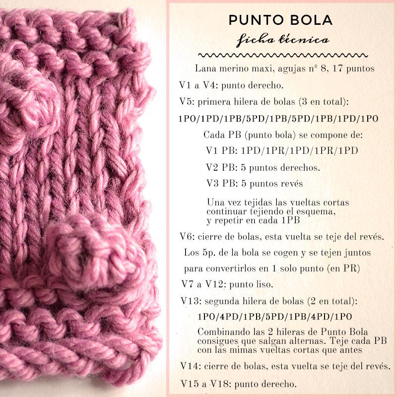 Cómo tejer Punto Bola | Pearl Knitter
