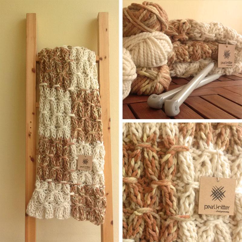 Manta de punto arnigu tringulo patrn de impresin de punto - Tejer mantas de lana ...