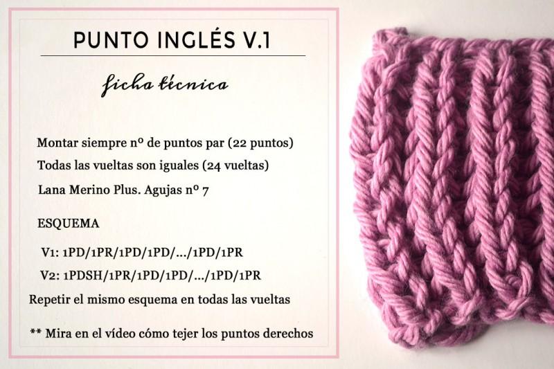 Punto ingl s yes of course pearl knitter - Puntos de agujas de lana ...