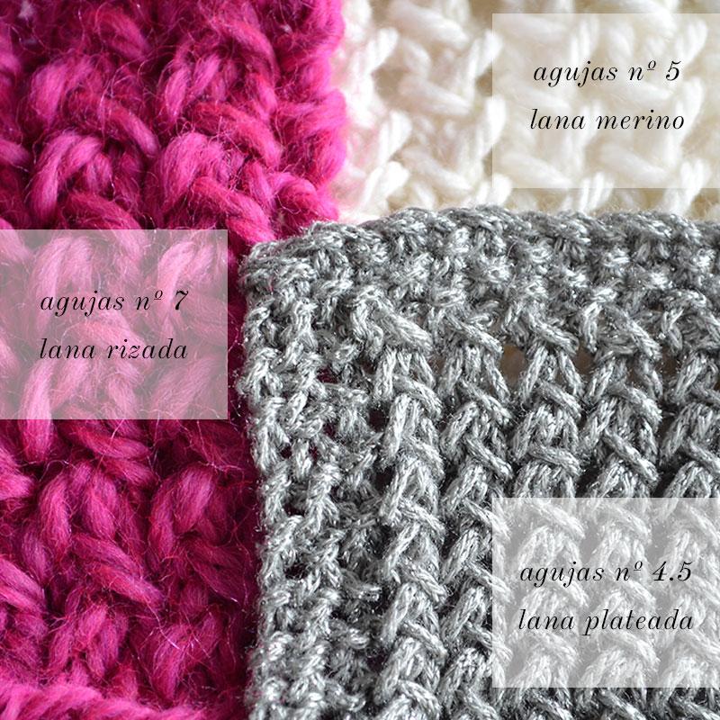 C mo tejer punto panal pearl knitter - Puntos de agujas de lana ...