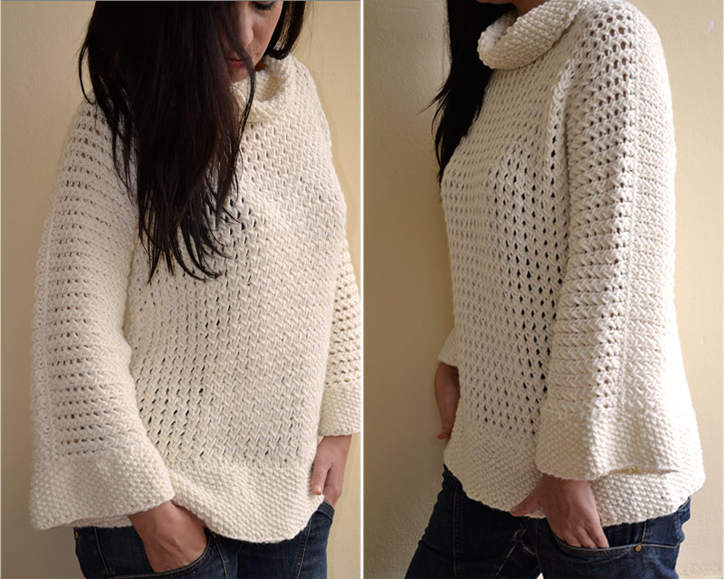 C mo tejer punto panal pearl knitter - Lana gruesa para tejer ...