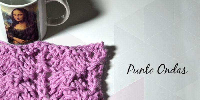 Cómo tejer Punto Ondas   Pearl Knitter