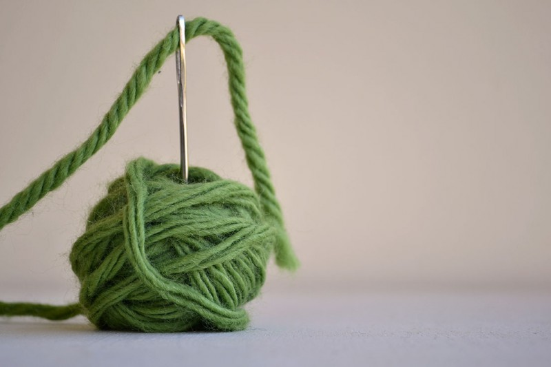 coser y rematar con aguja lanera