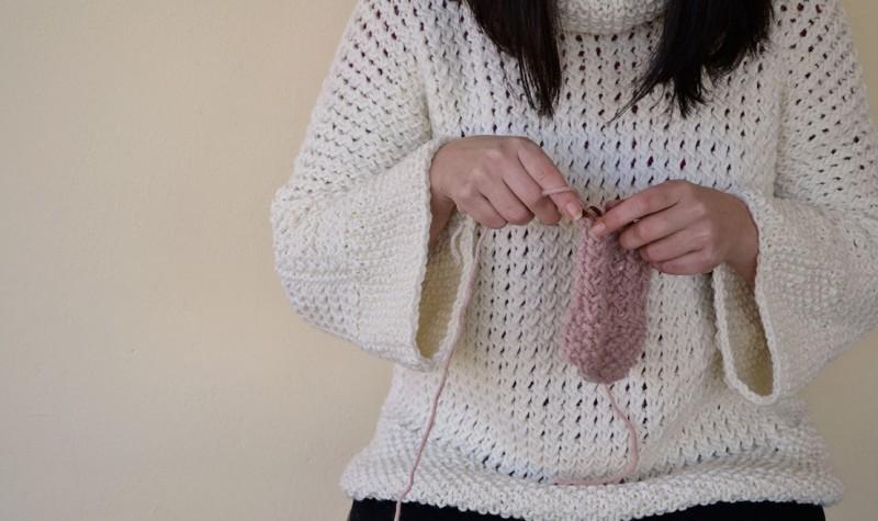 como tejer un jersey en dos agujas