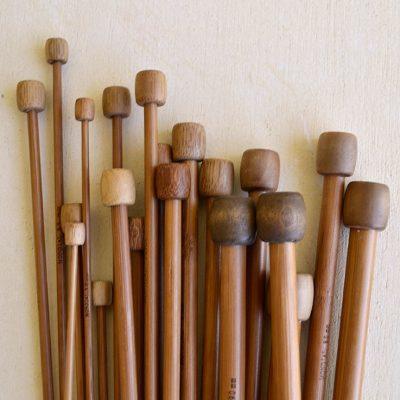 agujas de bamboo