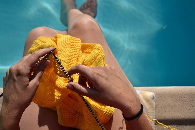 tejer en verano