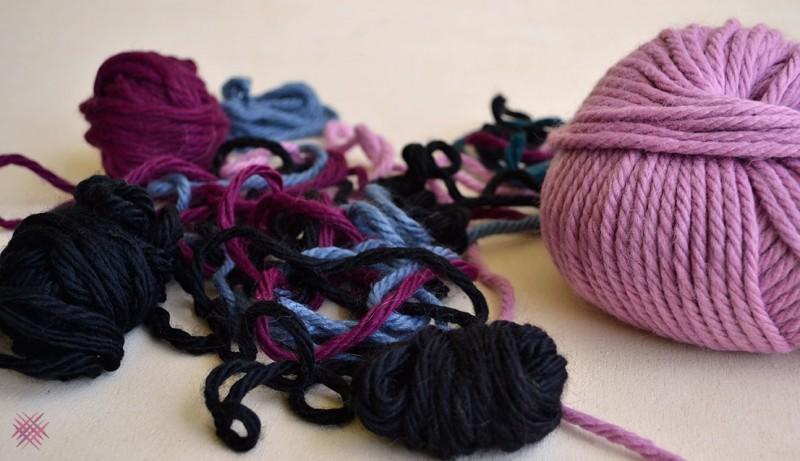 qué tejer con restos de lana