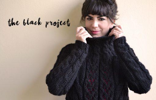 qué tejer con lana negra