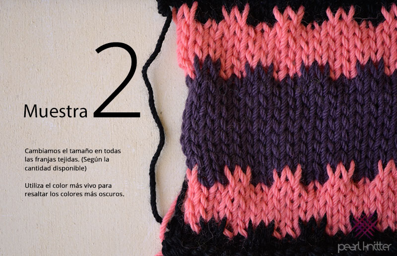 cómo tejer punto mosaico restos de lana