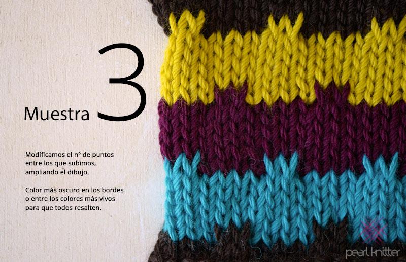 Cómo tejer Punto Mosaico variable   Pearl Knitter