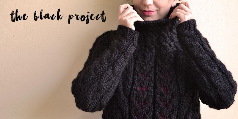 The Black Project (tejiendo con lana negra)