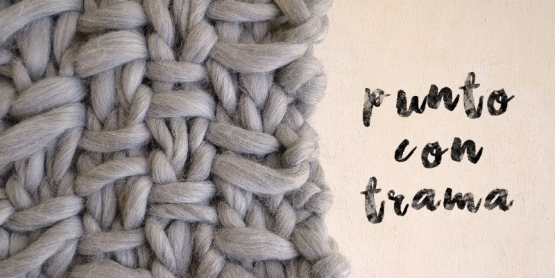 qué puntos tejer con lana gruesa