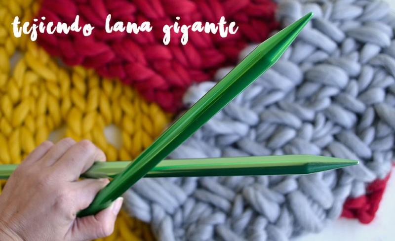 Qué puntos elegir para tejer con lana gigante | Pearl Knitter
