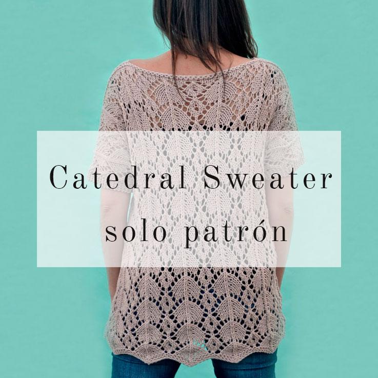 Catedral Sweater: disfruta tejiendo calados | Pearl Knitter