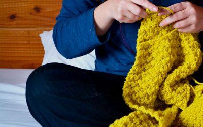 El poder de tejer una bufanda